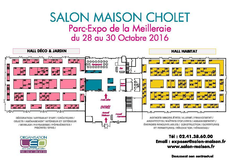 Plan Salon Maison Cholet 2016