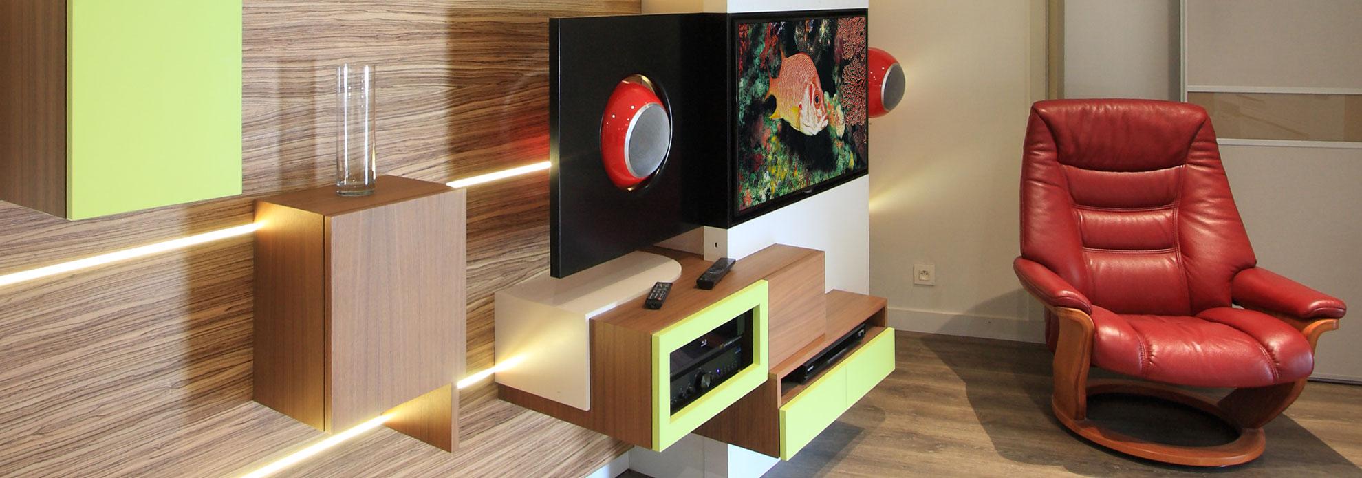 Am Nager Votre Salon Avec Un Meuble Tv Encastrable Evm Cr Ation  # Quel Meuble Tv Choisir