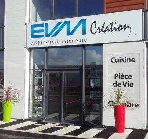 Devanture Showroom de Guérande EVM Création