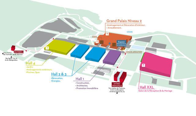Plan du Salon Habitat Déco à Nantes