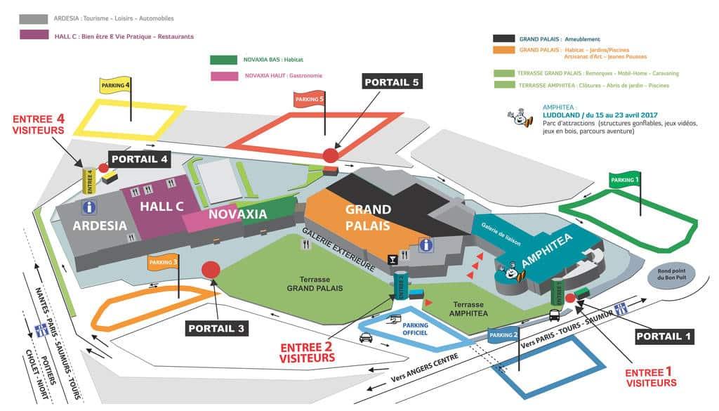 Plan Foire d'Angers 2017