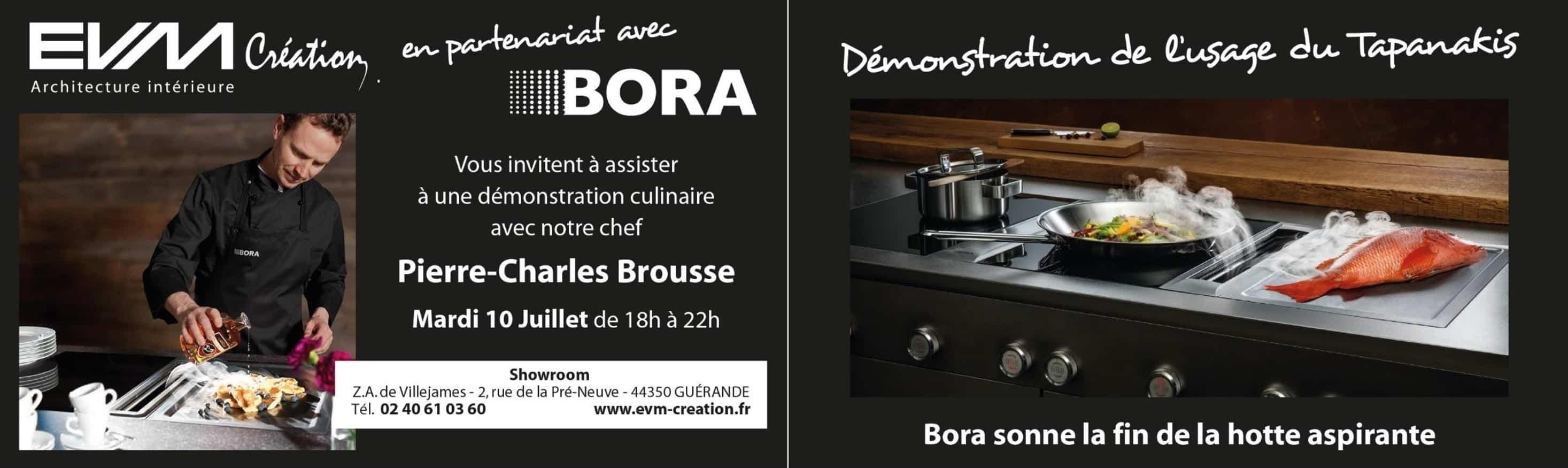 carton d'invitation à une dégustation culinaire à Guérande